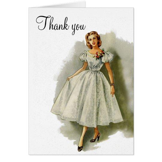 Vintage fashion thank you card