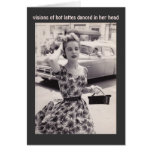 Vintage Fashion with Coffee Humor Birthday Card