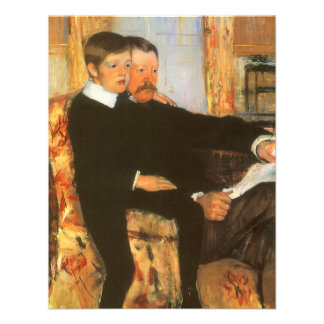 Vintage Father and Son Family Portrait by Cassatt Personalized Invites