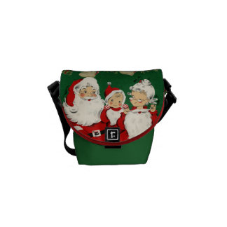 Vintage Father Christmas Graphic Commuter Bags