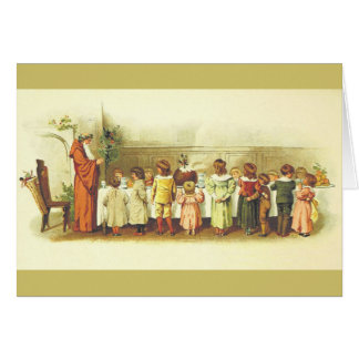 Vintage Father Christmas Greeting Card