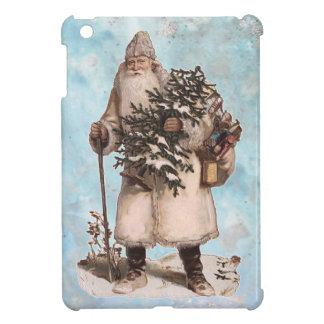 Vintage Father Christmas Santa Silver Snow Falling iPad Mini Case