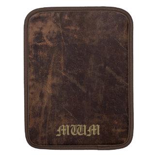 Vintage Faux Leather Monogrammed iPad Sleeve