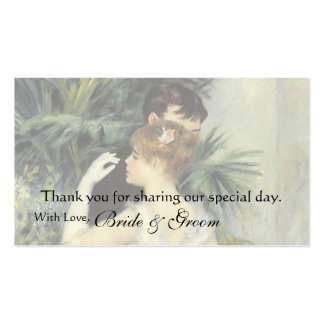 Vintage Favor Thank You Card, City Dance by Renoir Business Cards