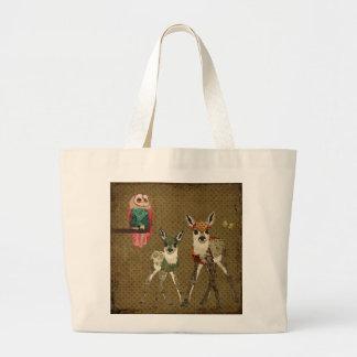 Vintage Fawns Rosa Owl Bag