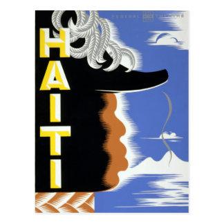 Vintage Federal Theatre Project Haiti Harlem WPA Postcard
