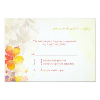 Vintage Feel Garden Wedding RSVP 9 Cm X 13 Cm Invitation Card