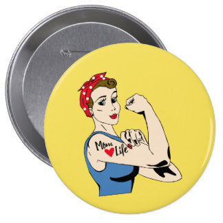 Vintage Feminism Pin Up Woman Mom Life Funny