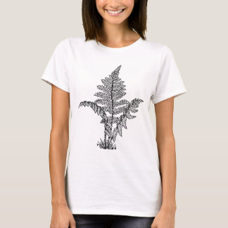 Vintage Fern Illustration T-Shirt