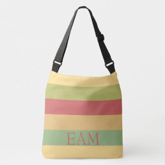 Vintage Ferris Wheel Palette Stripe Monogram Crossbody Bag