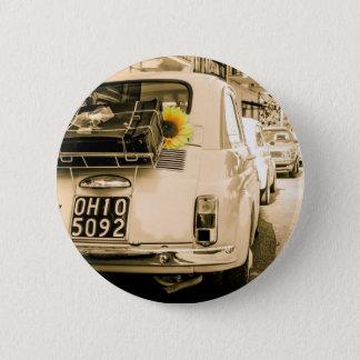 Vintage Fiat 500, Cinquecento in Italy 6 Cm Round Badge