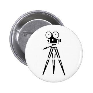 Vintage Film Movie Set Camera 6 Cm Round Badge
