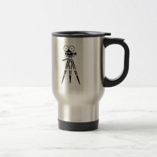 Vintage Film Movie Set Camera Travel Mug