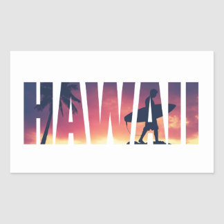 Vintage Filtered Hawaii Postcard Rectangular Sticker