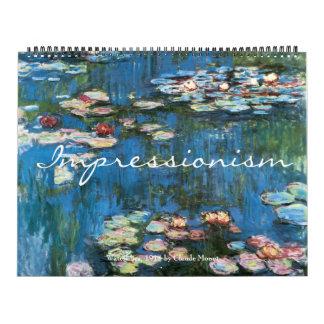 Vintage Fine Art Impressionism Paintings Wall Calendar