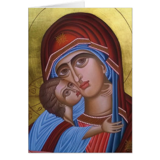 Vintage Fine Art of Mary and Baby Jesus Card