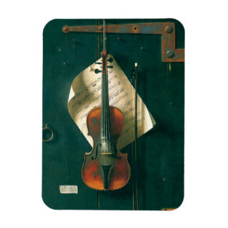 Vintage Fine Art, Old Violin Still Life by Harnett Rectangular Photo Magnet