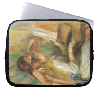 Vintage Fine Art, Young Girls at Piano by Renoir Laptop Sleeve