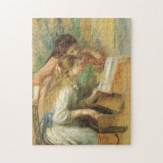 Vintage Fine Art, Young Girls at Piano by Renoir Puzzles