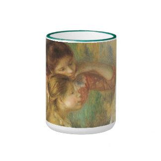 Vintage Fine Art, Young Girls at Piano by Renoir Ringer Mug