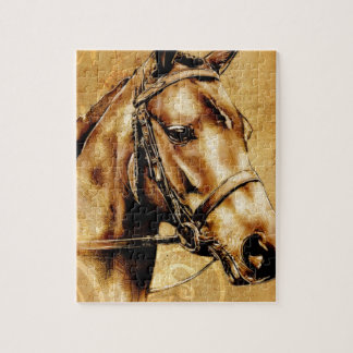 Vintage fineart F049 horse Jigsaw Puzzle