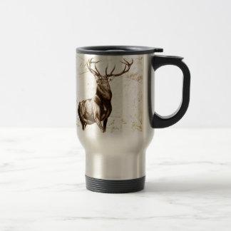 Vintage fineart F079 deer Stainless Steel Travel Mug