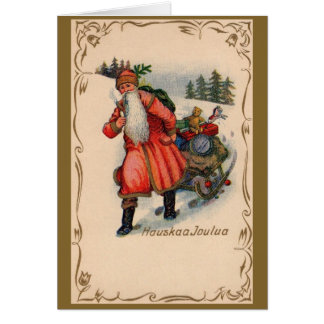 Vintage Finnish Christmas Greeting Card