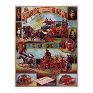 Vintage Fire Extinguisher Advertising Postcard