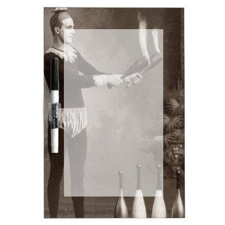 Vintage Fire Juggler Dry Erase Board