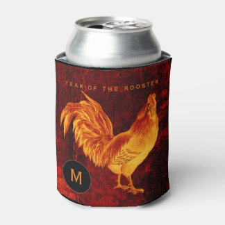 Vintage Fire Rooster Year 2017 Monogram can cooler