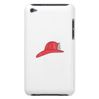 Vintage Fireman Firefighter Helmet Drawing Barely There iPod Covers
