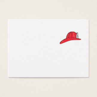 Vintage Fireman Firefighter Helmet Drawing Business Card