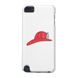 Vintage Fireman Firefighter Helmet Drawing iPod Touch (5th Generation) Covers
