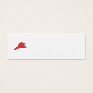 Vintage Fireman Firefighter Helmet Drawing Mini Business Card