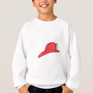 Vintage Fireman Firefighter Helmet Drawing Sweatshirt