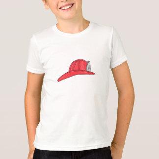Vintage Fireman Firefighter Helmet Drawing T-Shirt