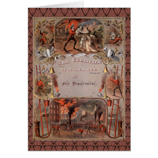 Vintage Fireman's Certificate Cards