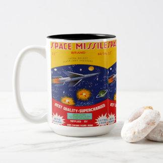 Vintage Firework Label Two-Tone Coffee Mug