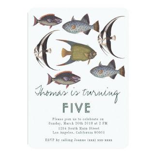 Vintage Fish Birthday Invitation