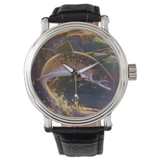 Vintage Fish, Sports Fishing Trout Catch n Release Watch