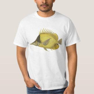Vintage Fish, Yellow Tropical Chelmon Longirostris T-Shirt