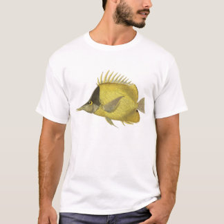 Vintage Fish, Yellow Tropical Chelmon Longirostris T-Shirt