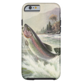 Vintage Fisherman Fishing Rainbow Trout Fish Tough iPhone 6 Case