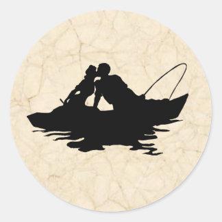 Vintage Fishing Lovers Sticker
