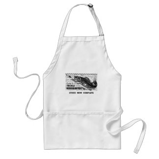 Vintage Fishing Tackle Ad Classic Kitsch Adult Apron