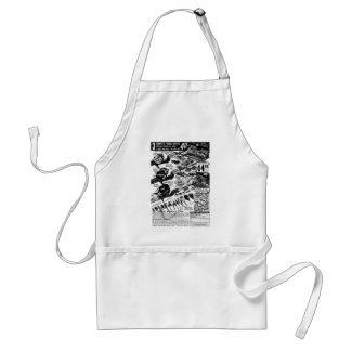 Vintage Fishing Tackle Ad Classic Kitsch Standard Apron