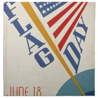 Vintage Flag Day Napkin