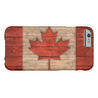 Vintage Flag of Canada Distressed Wood Design Barely There iPhone 6 Case