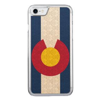Vintage Flag of Colorado Damask Pattern Carved iPhone 8/7 Case