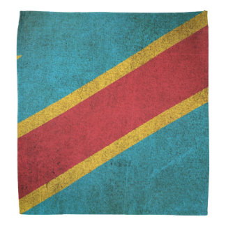 Vintage Flag of Democratic Republic of Congo Bandana